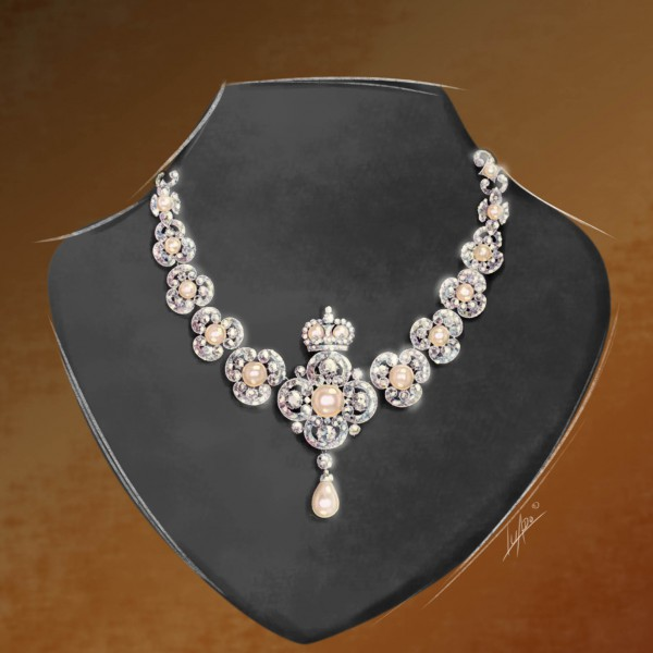 Diamantkette-Illustration