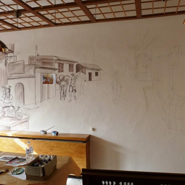 Acryl-Wandmalerei