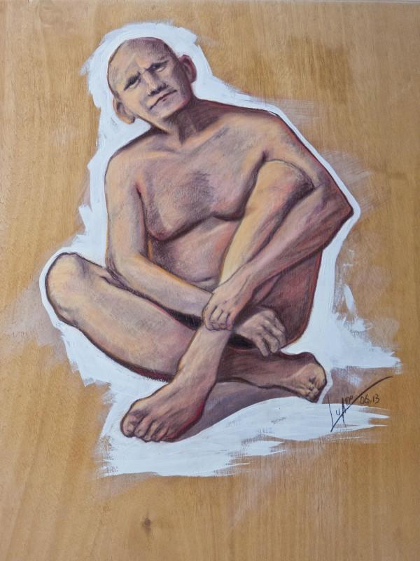 männlich-Akt-Acryl-Holzplatte