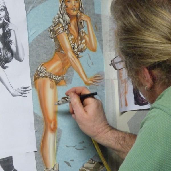 Airbrush-Acrylmalerei