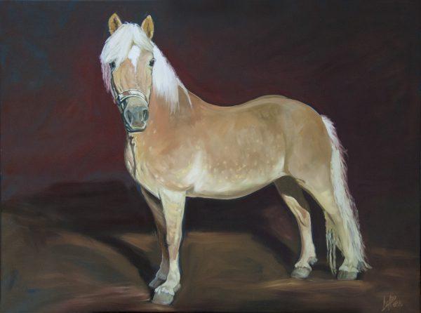 Oelbild-Pferd